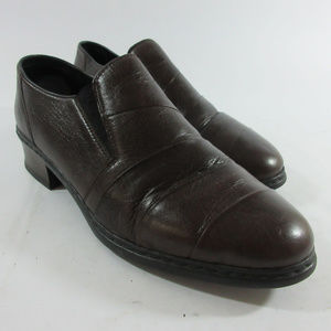 Rieker Dana Anti Stress Brown Leather Loafer Shoes